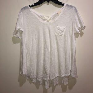 Anthropologie T LA Sz Petite XS White Short Sleeve
